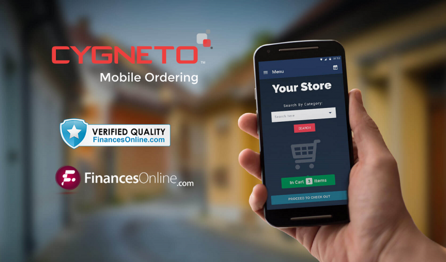 Cygneto Mobile Ordering reviewed by Finances online